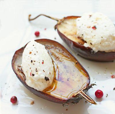 roasted eggpland & ricotta