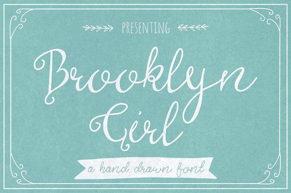 Brooklyn Girl by The Pen & Brush on @creativemarket