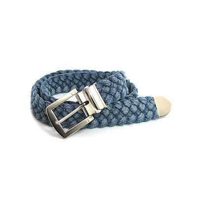 New Vintage COTTON BRAIDED Woven Canvas Belt men women unisex style