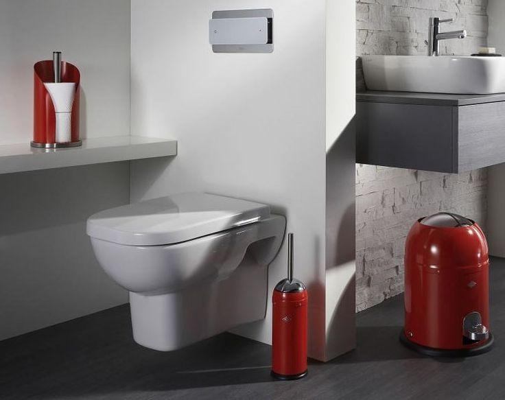 De prachtige combinatie van Wesco producten. Een zeer mooie toiletborstel in een rode kleur, wat meteen opvalt als je de badkamer of toilet binnenkomt lopen. Bekijk hem op http://www.zachtebadmat.nl/toiletborstels