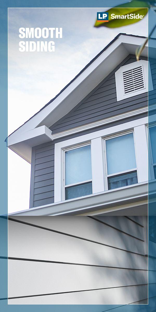 Exterior Trends Smooth Siding Siding Trim Lap Siding Gray House Exterior