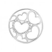 Hearts silver My Imenso 33 mm insignia www.silverwolfjewellery.com.au