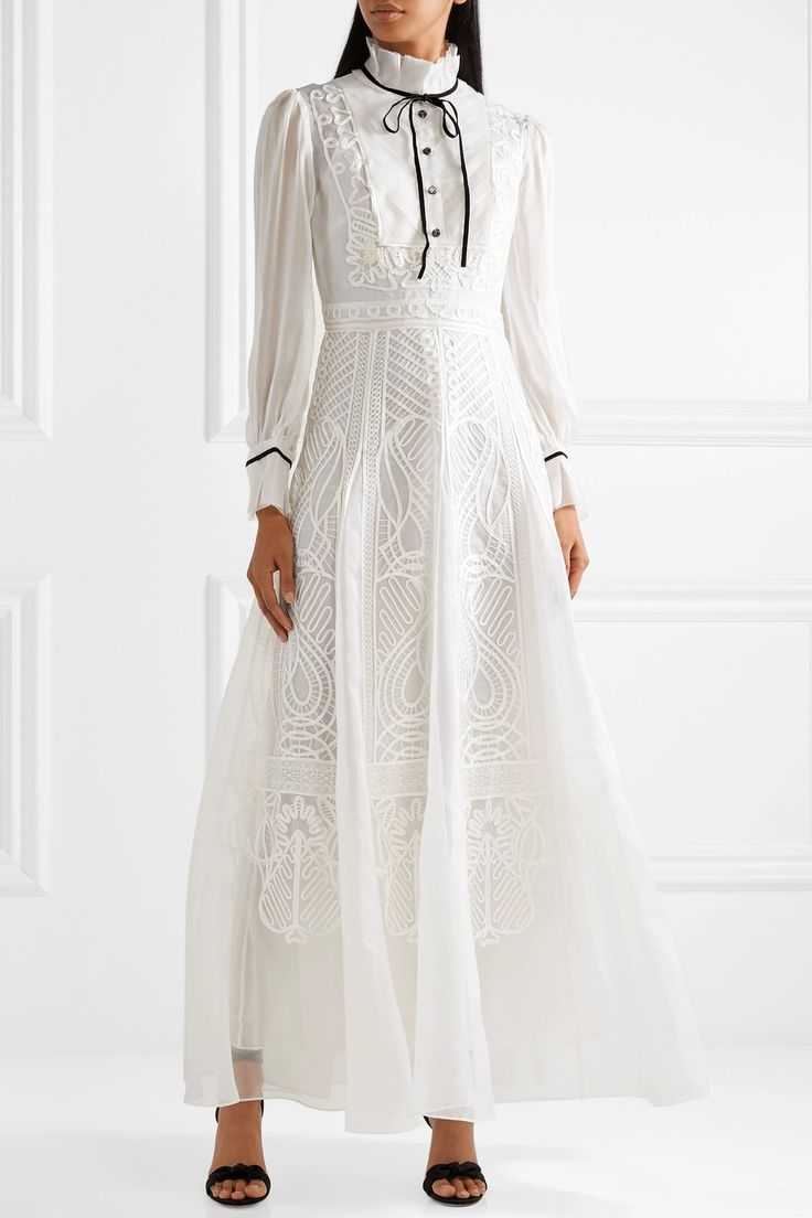 Temperley London | Imperium embroidered silk-organza and chiffon dress | NET-A-PORTER.COM