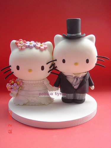 Hello Kitty Wedding Cake Topper.     I was soooo looking for this when I got married!