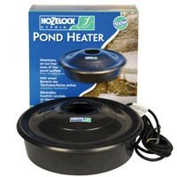 Hozelock Pond Heater 100w This new heater from Hozelock floats on the pond surface keeping an area free from ice. This ensures that oxygen continues to enter the pond while toxic gases can escape. http://www.MightGet.com/february-2017-2/hozelock-pond-heater-100w.asp