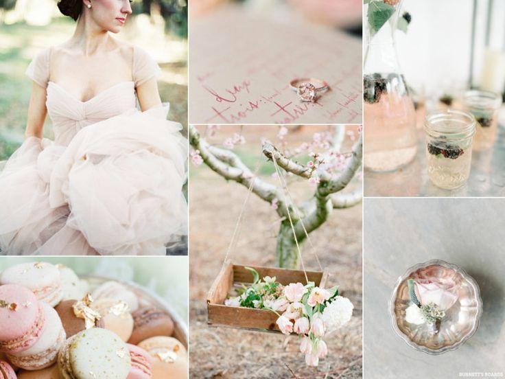 Romantic outdoor blush pink pastel wedding | http://burnettsboards.com/2013/11/romantic-pastel-blush-wedding/