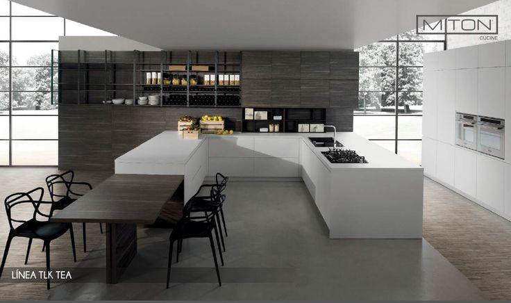 En #TopKitchen diseñamos la #cocina de tus sueños con espacios amplios para compartir y cocinar #architecture #design #kitchen #foodporn