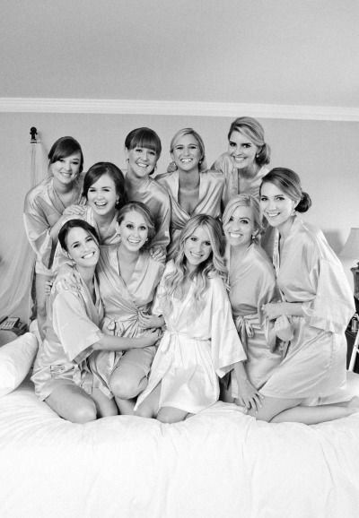 all the girls getting ready- last shot before everyone changes with hair and makeup done, but no fancy clothes!
