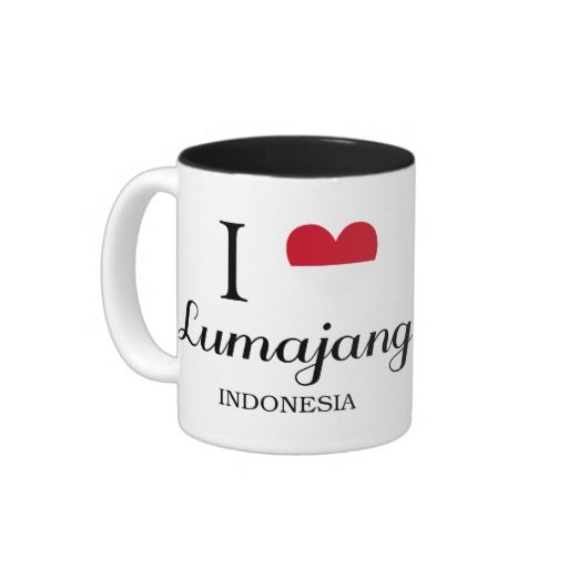 I Love Lumajang, Indonesia Two-Tone Mug
