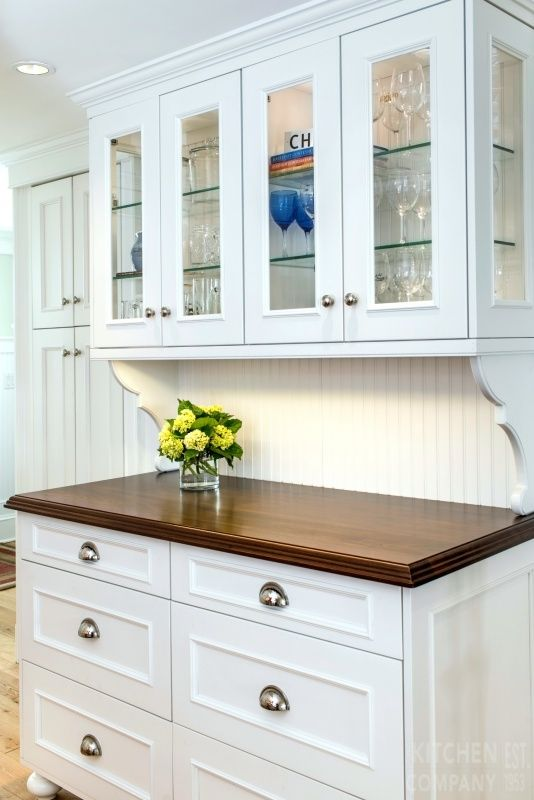 A Beach Cottage Kitchen Cabinetry: WoodMode BrookHaven Cabinets With Nordic  White Finish | Countertops: