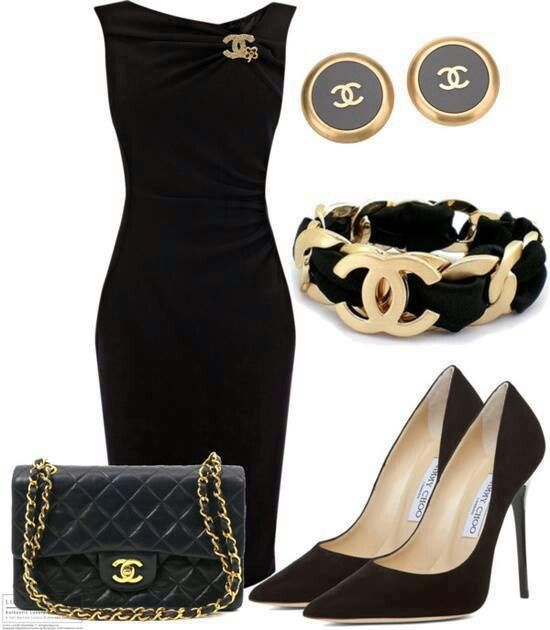Chanel ~ little black dress | Fashion-DRESS outfits ...