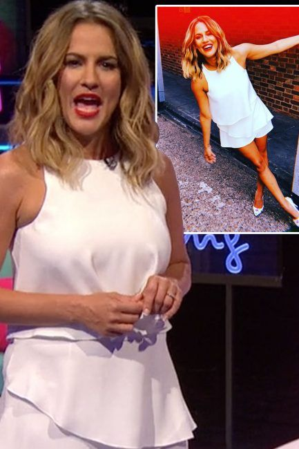 575b26244b Caroline Flack outfit  Aftersun host s floaty white playsuit leaves ITV2  viewers all asking where they can get it from - here s all the details   fashion ...