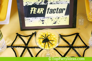 Fear Factor Party Ideas with Printable party decorations