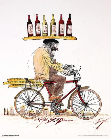 Ralph Steadman- Wine & Bicycle Posters by Ralph Steadman at AllPosters.com