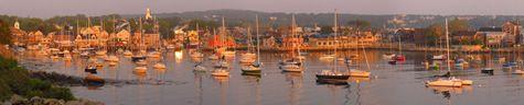 Rockport Harbor from the Headlands.  Photo courtesy Les Bartlett