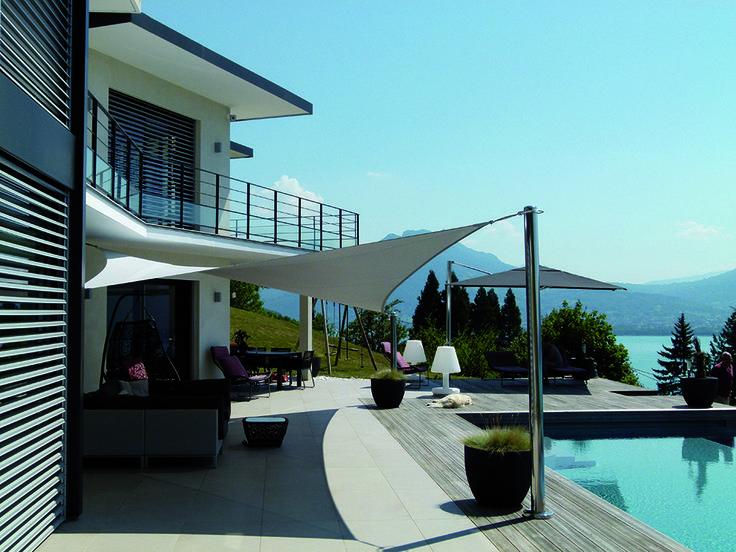 Hureau Ombrage Conçoit Des Toiles Tendues Et Voiles Du0027ombrage Sur Mesure  Pour Tout Type De Terrasse.