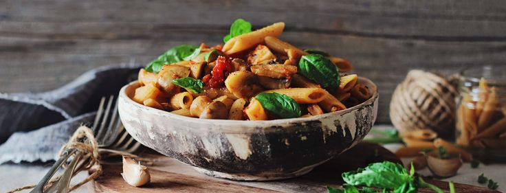 Pasta dishes like this perfect penne come together easily because I always have most of the ingredients in the pantry and mushrooms in the fridge.
