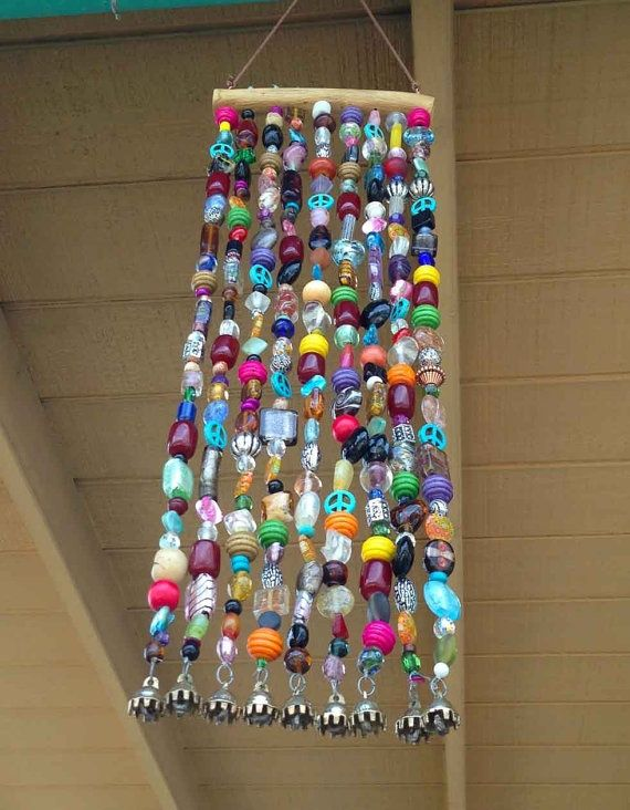Beaded Wind Chime with bells on the bottom