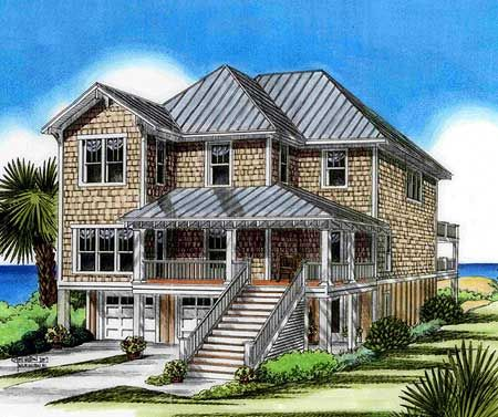 Plan 15009nc four bedroom beach house plan house och for 4 bedroom beach house plans