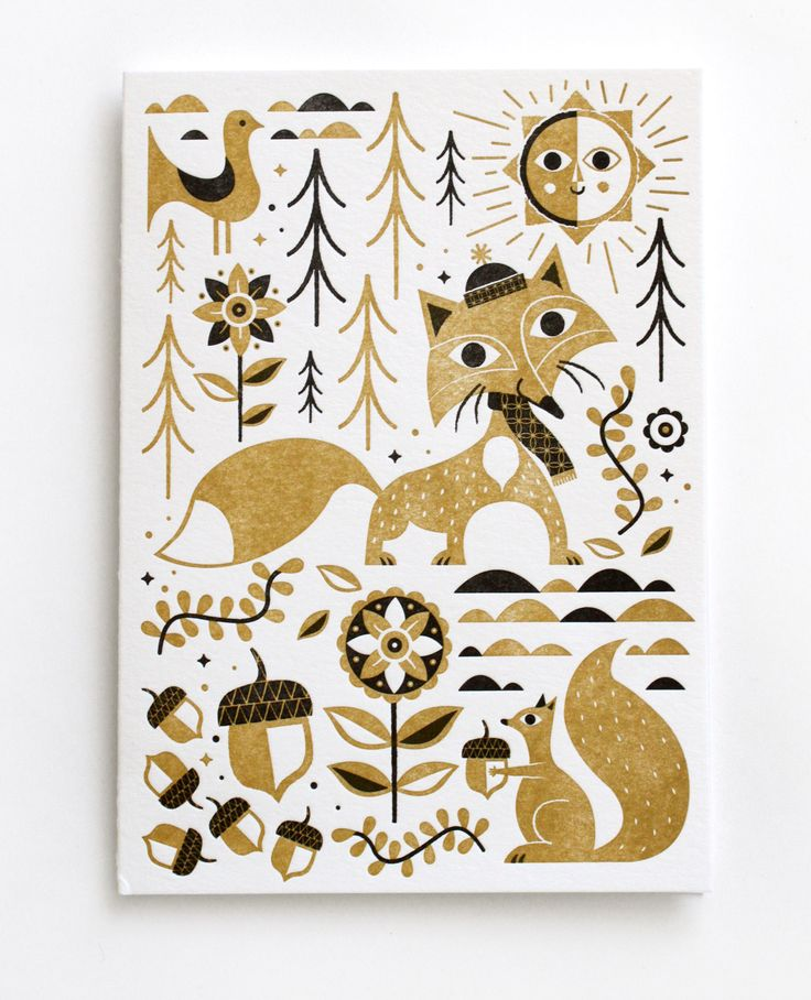 2013 Letterpress Holiday card set by Tad Carpenter