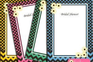 Ingyenes Nyomtatható Spring Bridal Shower Meghívók