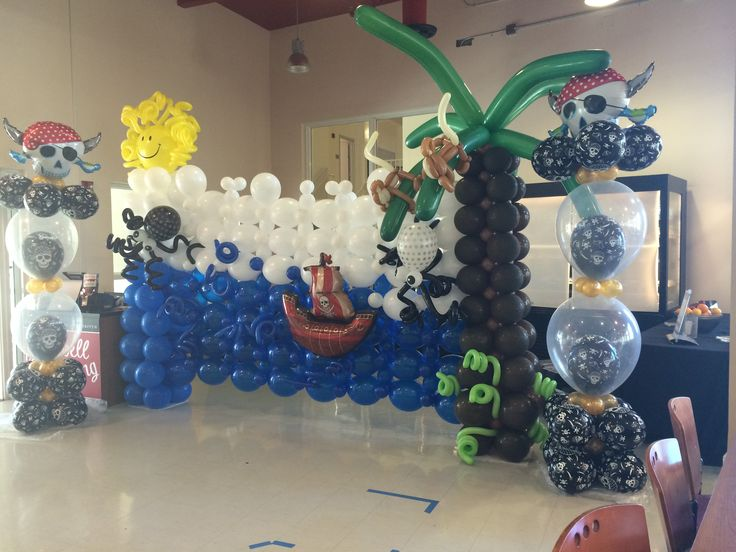 Pirate Theme Party Decoration Ideas Part - 43: Pirate Characters For Kids Party Decoration #Pirate #Pirate_party  #pirate_decoration #balloon_sculpture #pirate_balloon