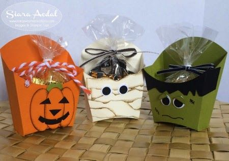 Freakin Adorbs Stampin Up French Fry Box Friends - halloween treats