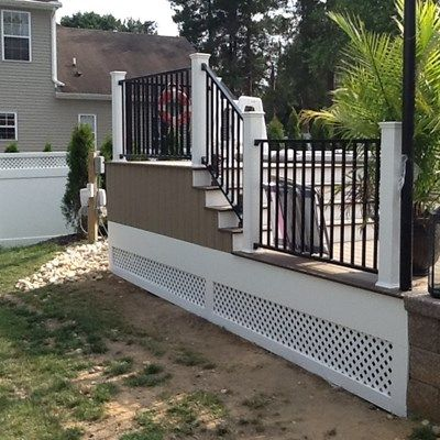 Wolf Decking Deckorators Cxt Railing With Black Aluminum