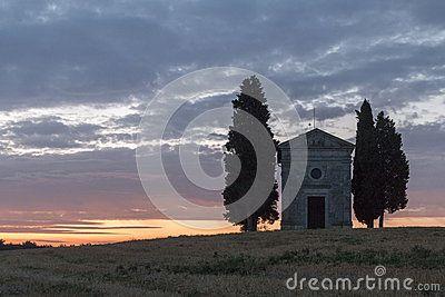 Cappella di Vitaleta - Val D'Orcia - Tramonto
