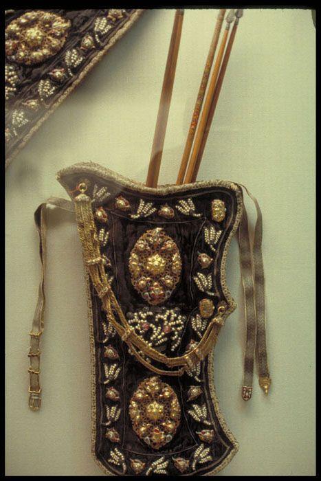 Ottoman embroidered quiver, 18th century, Topkapi Sarayi Musseum, Istanbul Turkey.