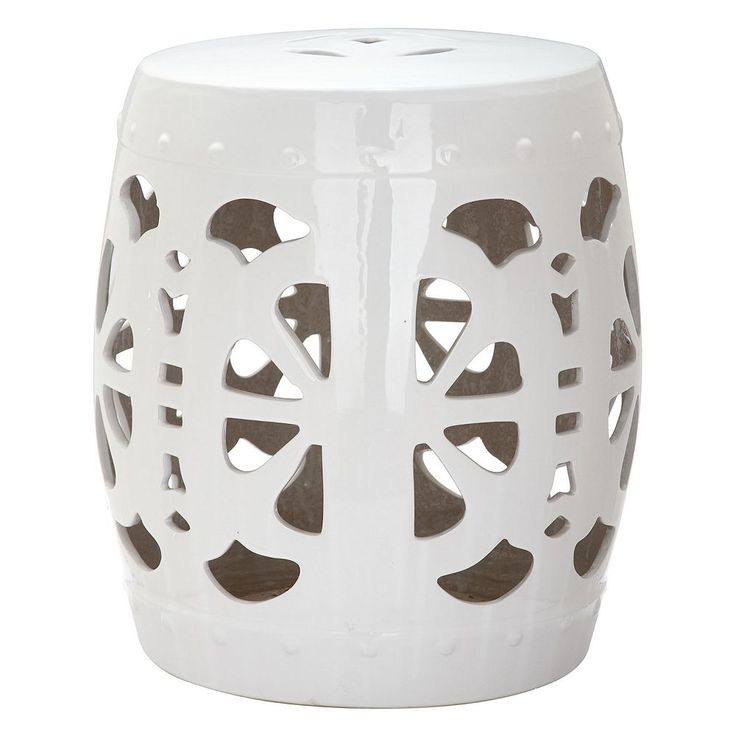 Outdoor Safavieh Blossom Ceramic Garden Stool, White