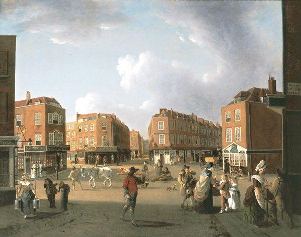 Seven Dials, Covent Garden c.1787-c.1790, William Hodges RA (1744-1797), Julius Caesar Ibbetson (1759-1817)