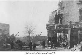 woolworth bombing new cross road - On Saturday 25th November 1944 at 12.26 pm [only 2 weeks since the first V2 rocket hit London] at a busy shopping parade in New Cross a V2 rocket hit without warning destroying most of the parade [including the Woolworths and Co Op stores, now Iceland and New Cross Library] in the massive explosion 168 people lost their lives [24 were never identified] and 122 were injured. The worst V2 bombing of WW2