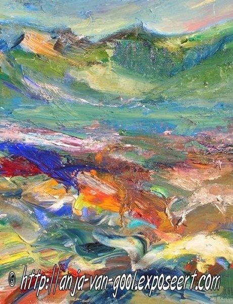 Anja van Gool werd geboren in Baarle-Nassau-Hertog en komt uit een creatief gezin. Zij pakte op latere leeftijd het schilderen op. Vanaf 1985 volgde zij aquarellessen en in 2007 sloot zij aan de kunstacademie in Turnhout de opleiding 'schilderen' af. Tot 2013 volgt zij de opleiding portret- en modeltekenen. Ze werkt deels figuratief en realistisch, maar haar werken neigen ook naar abstractie.  Zie ook http://www.em-ha-em-art-productions.nl/mainport/kunstenaars/anjavangool/