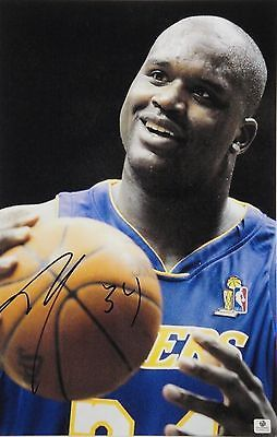 """Shaw Shaquille O'Neal Signed Autograph 11""""x17"""" Photograph Los Angeles Lakers GA"""