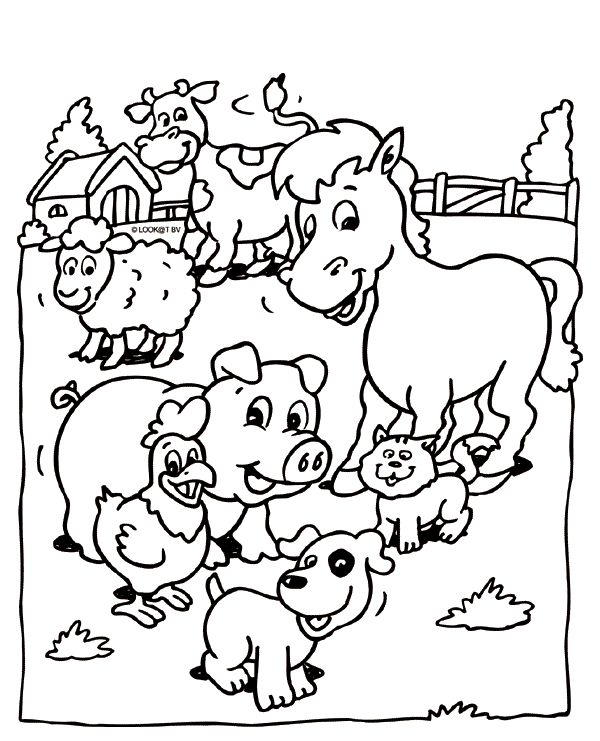 pin by coloring fun on animals farm animal coloring pages baby farm animals animal coloring. Black Bedroom Furniture Sets. Home Design Ideas