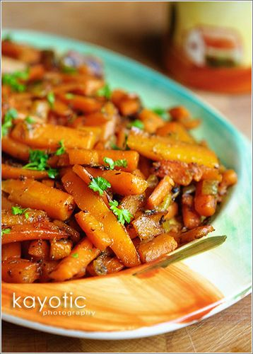 The most delicious side dish ever!! **Update** I made this recipe last night with butternut squash instead of the carrots. Now I don't know which way I like it best! :D