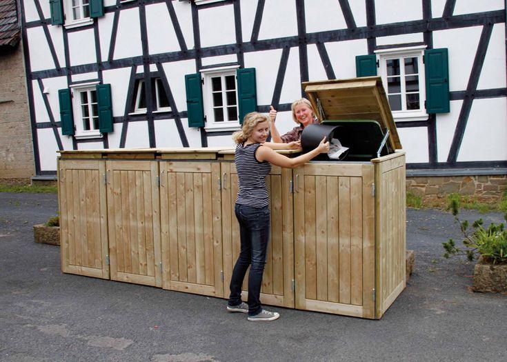 Die 25+ Besten Ideen Zu Mülltonnenverkleidung Selber Bauen Auf ... Muelltonnenbox Selber Bauen Ideen Gestaltung