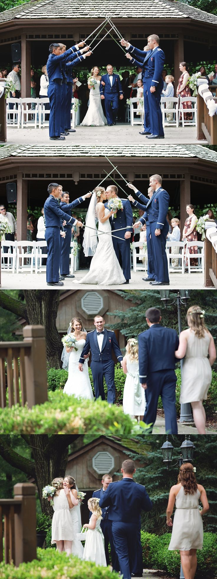 Air Force wedding ceremony, Elms Resort wedding ceremony, Elms Hotel wedding Gazebo, Kansas City weddings