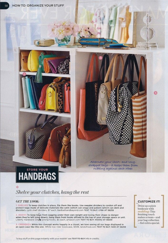 Smart Purse Organization in Closet - 11 Ways To Organize Purses