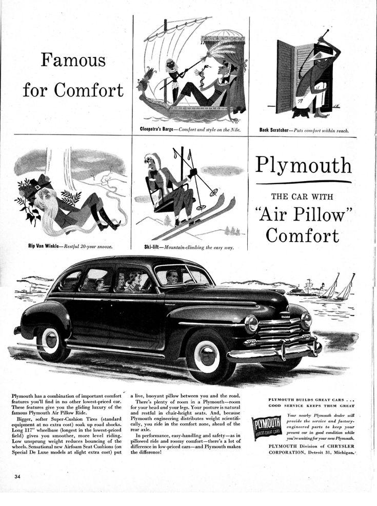 1949 Plymouth De Luxe Air Pillow Comfort Original 13.5