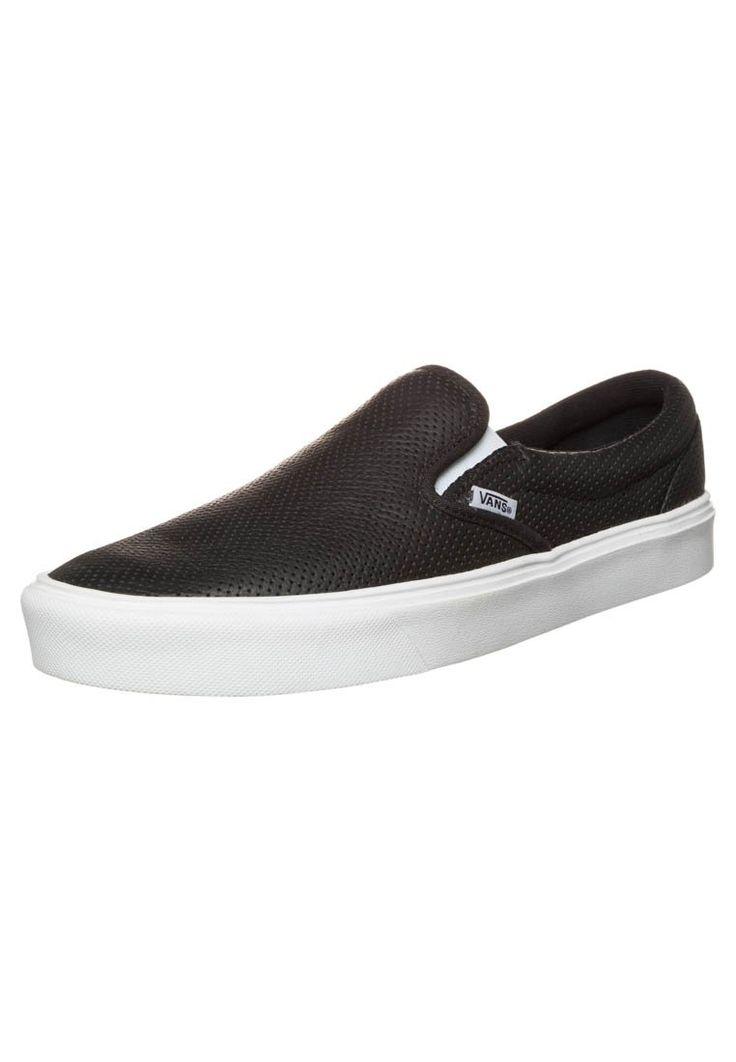 Bestill Vans SLIP-ON LITE - Slippers - black/white for kr 649,00 (04.01.16) med gratis frakt på Zalando.no