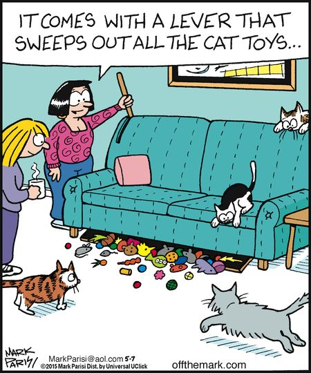 cat person's sofa. Off the Mark by Mark Parisi May 7, 2015