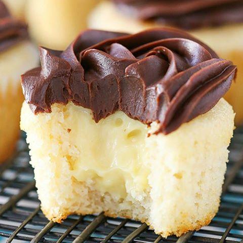 I love these Boston Cream Pie Cupcakes!