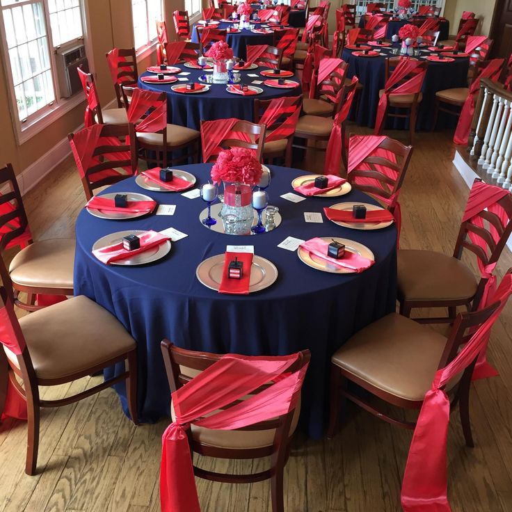 Navy Blue and Coral Wedding Reception by Uniquely Arranged Decor