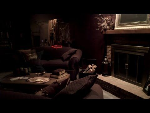 Paranormal Activity caught on video! GHOST captured on tape walking through room.