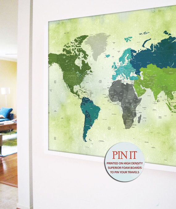 Best Framed World Map Ideas On Pinterest Map Themed Room - Framed us map