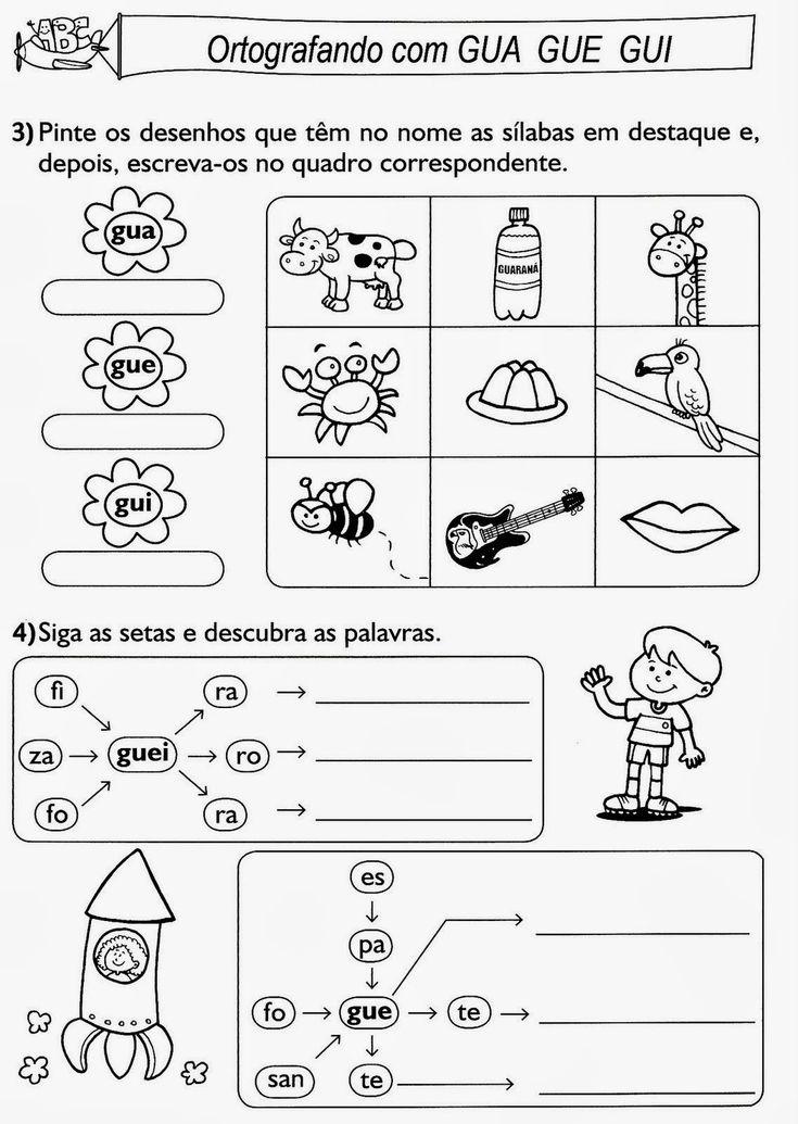 PÚBLICO ALVO: 2º ano Ensino Fundamental I.  CONTEÚDO Sílabas GUA-GUE-GUI-GUO   OBJETIVO Identificar a grafia e fonética da sílaba GU nas palavras; ...