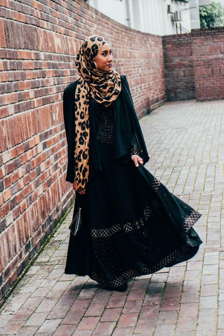 Studded Black Abaya with Black Cape Blazer