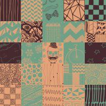 Adesivo de azulejo mix hipster 02 15x15